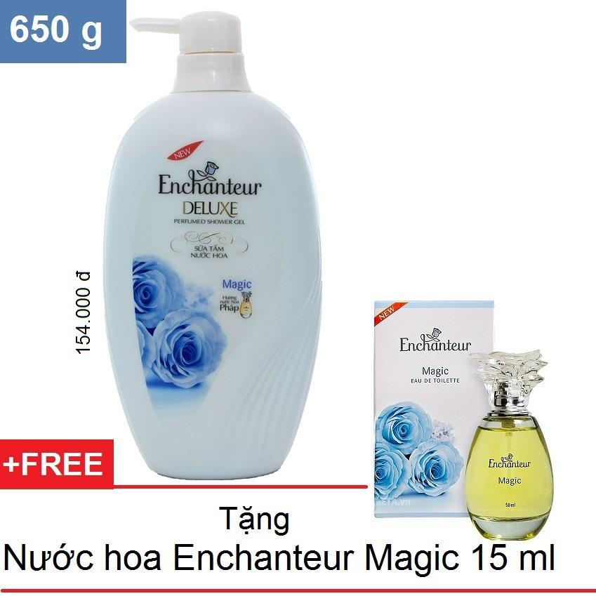 Enchanteur Sữa Tắm Hương Nước Hoa 650 G Tặng Nước Hoa 15 Ml Magic Rẻ