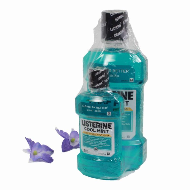 Nước súc miệng diệt khuẩn LISTERINE COOL MINT 750ml + Tặng thêm 01 chai Listerine 250ml