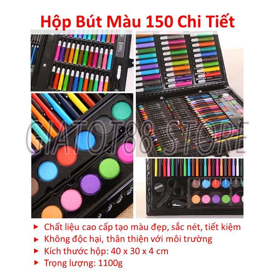 Hình ảnh To Mau Cho Bup Be, Bộ Bút Chì 150 Món Tập Bé Cho Bé Dạng Cặp Xách, 5 Kiểu Bút Màu , Chất Liệu Cao Cấp Tạo Màu Đẹp
