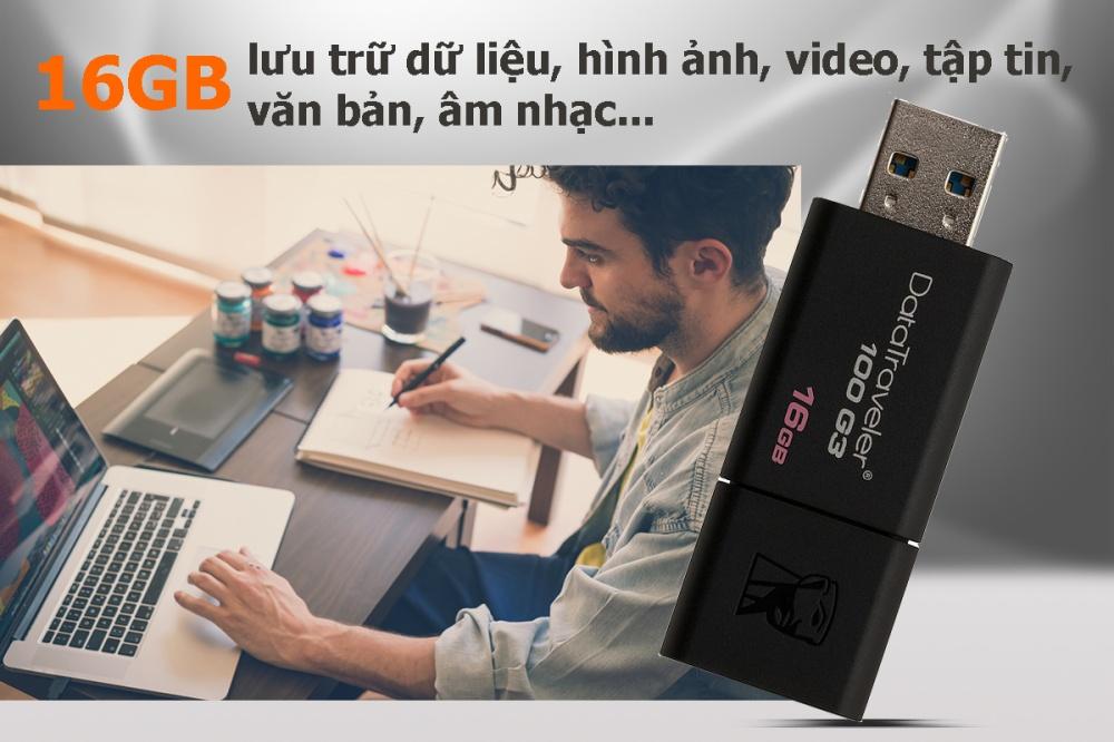 USB Kingston DT100G3 16GB - USB 3.0