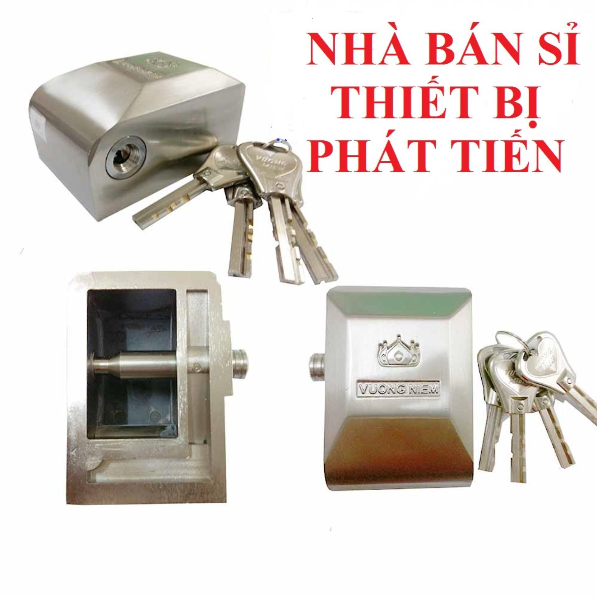 Ổ Khóa Cửa Chụp Vương Niệm Hợp Kim Inox Dày (Hàng Chất Lượng Cao)