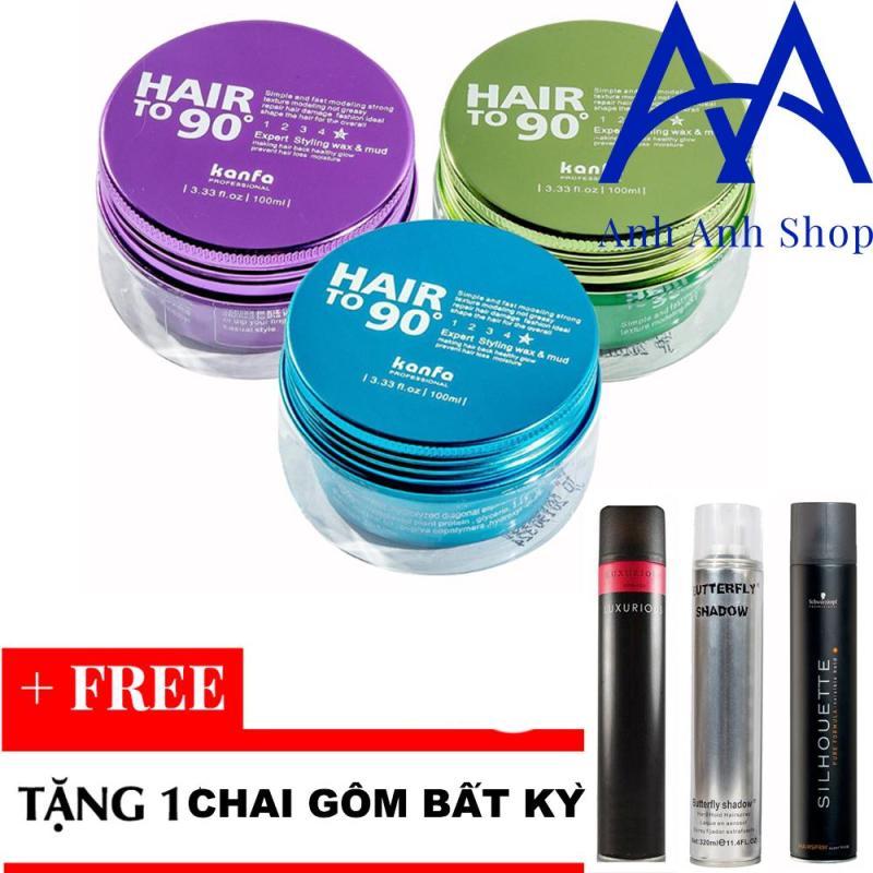 Sáp vuốt Tóc Kanfa Hair To 90 Wax + Tặng 1 chai gôm bất kỳ giá rẻ