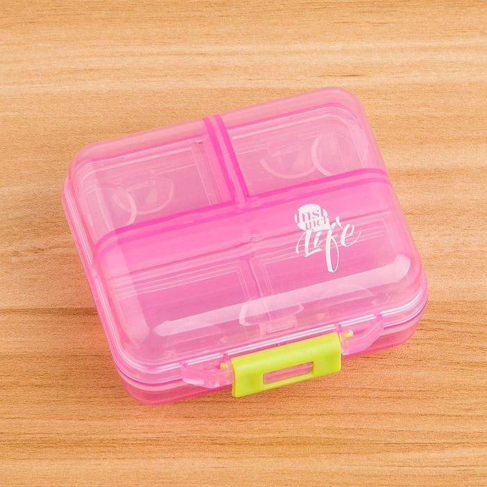 Mini Small Medicine Box Portable Large Capacity with Points yao Box One Week Pills Products Small Travel Sub-Pill Box