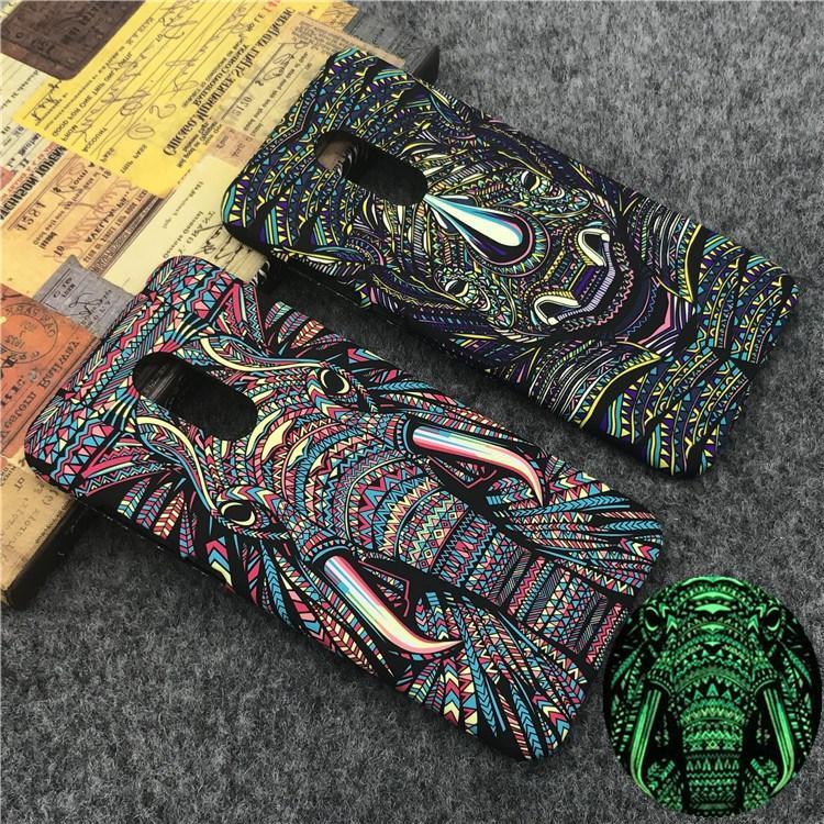 Detail Gambar SHUNJIA [Night Luminous Glow] Wolf Pattern Redmi5 Plus Casing Hard Cover Case For Redmi 5 Plus Terbaru