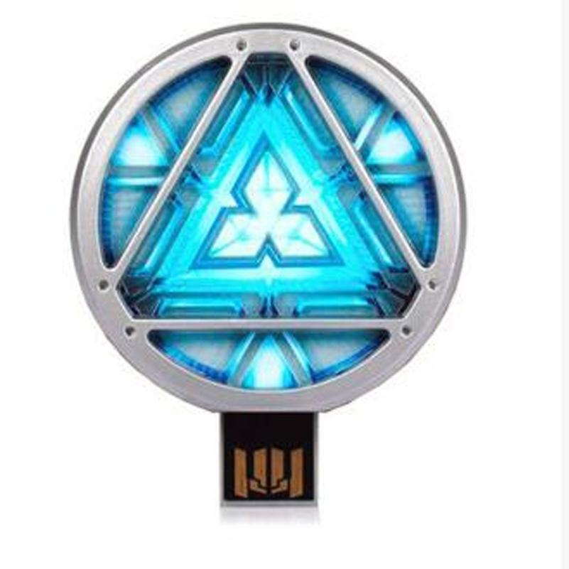 Hình ảnh 16GB USB Flash Drive Memory Stick Marvel Avengers Iron Man Tony Stark Arc-Reactor USB 2.0 High Speed U Disk
