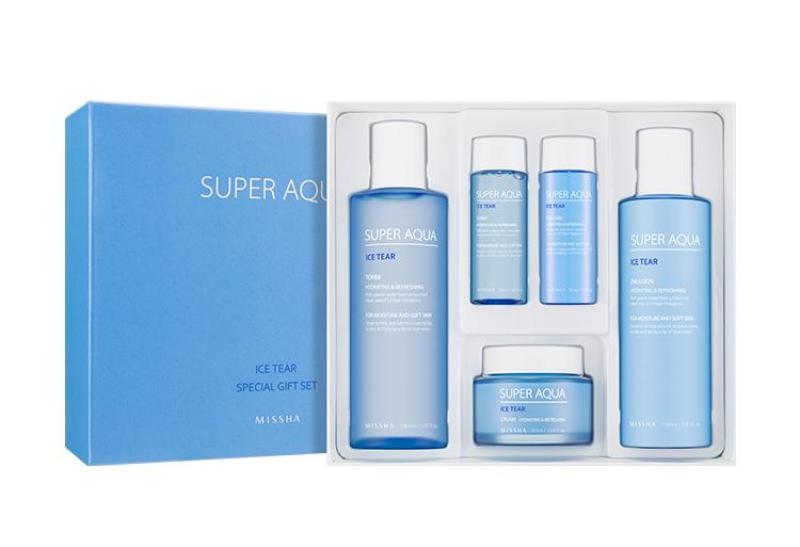 미샤 수퍼 아쿠아 아이스 티어 기초화장품 3종 세트 - Missha Super Aqua Ice Tear Special Gift Set nhập khẩu