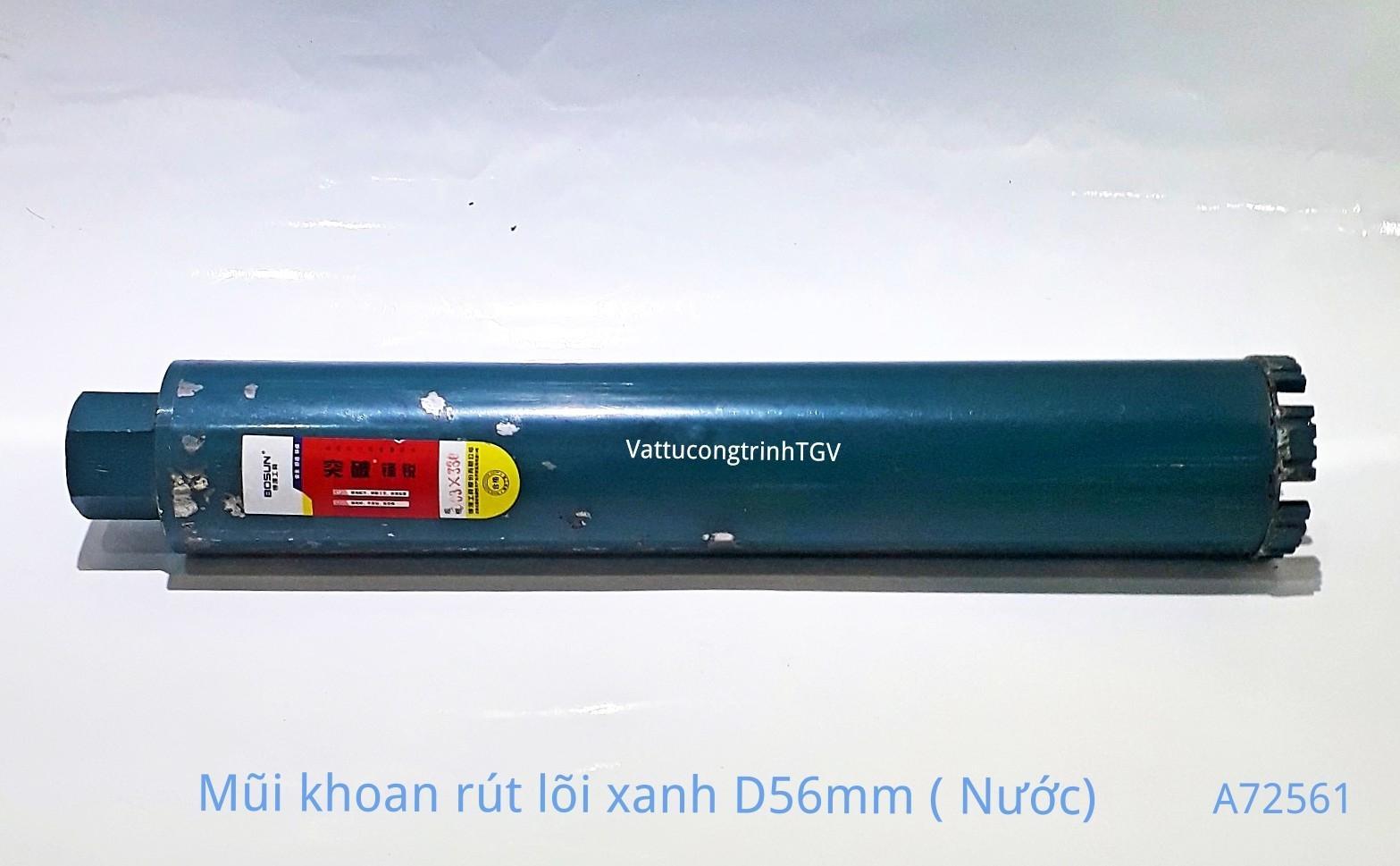 Mũi khoan rút lõi Xanh D56mm ( mũi nước)