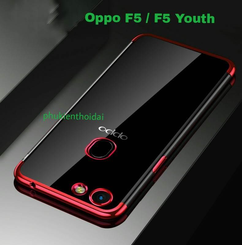 Hình ảnh Ốp lưng Oppo F5 / F5 Youth dẻo viền màu 3 đoạn chống ố vàng bảo vệ camera cao cấp