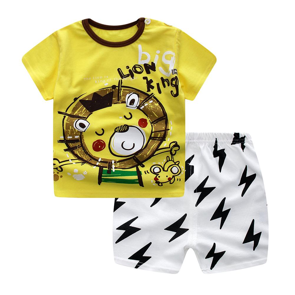 Buy Sell Cheapest Four Season Minyak Best Quality Product Deals Angin Medicated Oil Big Sale 2 Pcs Baby Kids Clothes Set Cartoon T Shirt Shorts