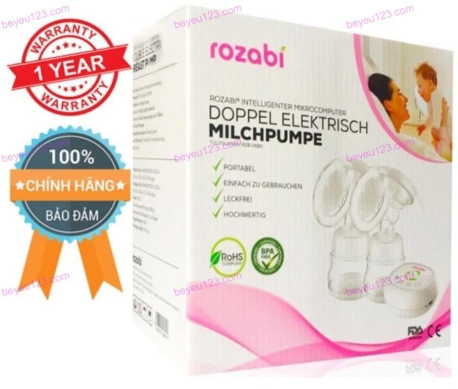 Máy hút sữa điện đôi thông minh ROZABI 12 cấp độ hút sữa sử dụng nguồn cắm điện cổng USB