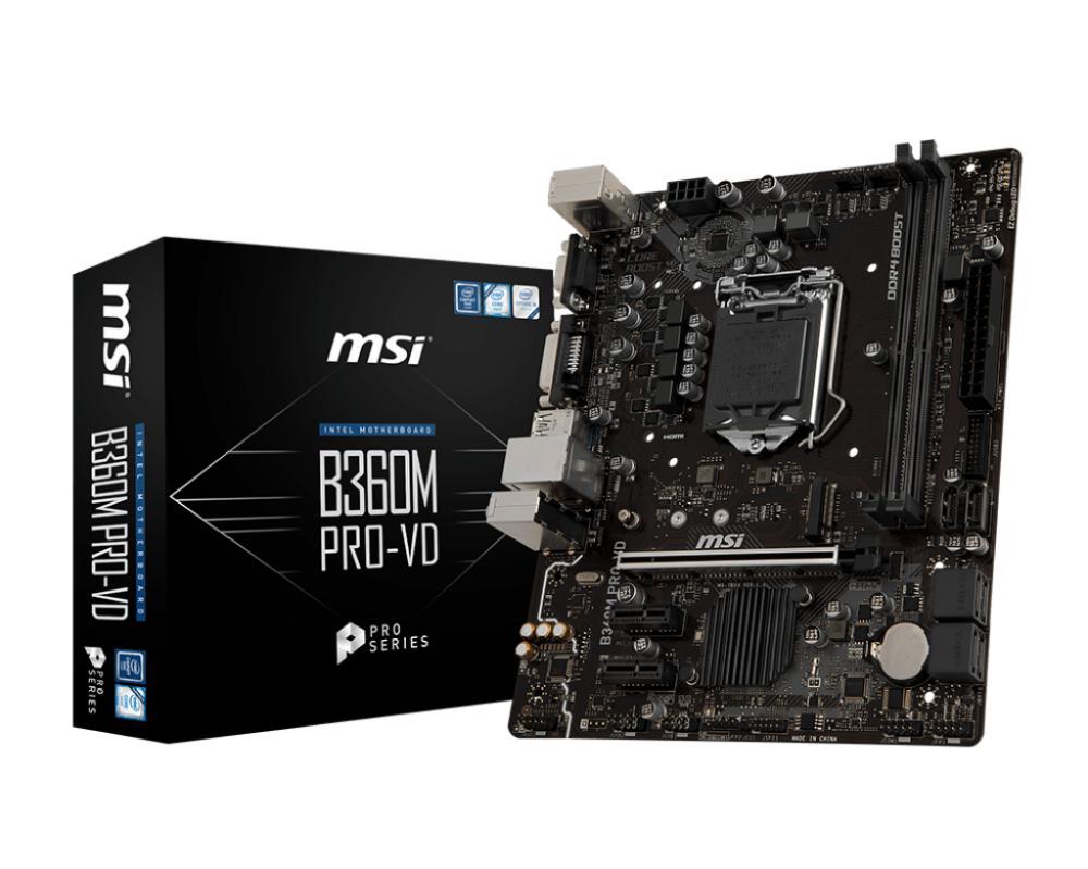 Hình ảnh Mainboard MSI B360M Pro-VD Socket 1151V2 ( Đen )