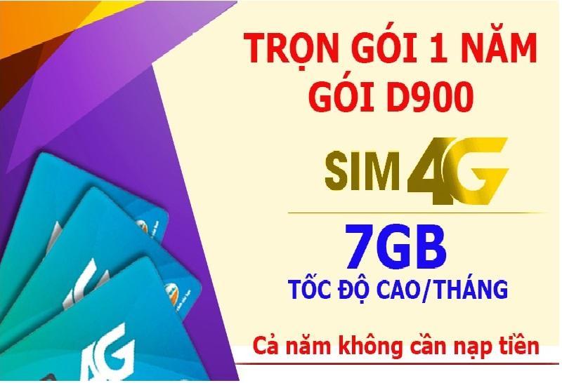 Giá Bán Sim 4G Viettel Trọn Goi 1 Năm 7Gb Thang Goi D900 Viettel 4G Việt Nam