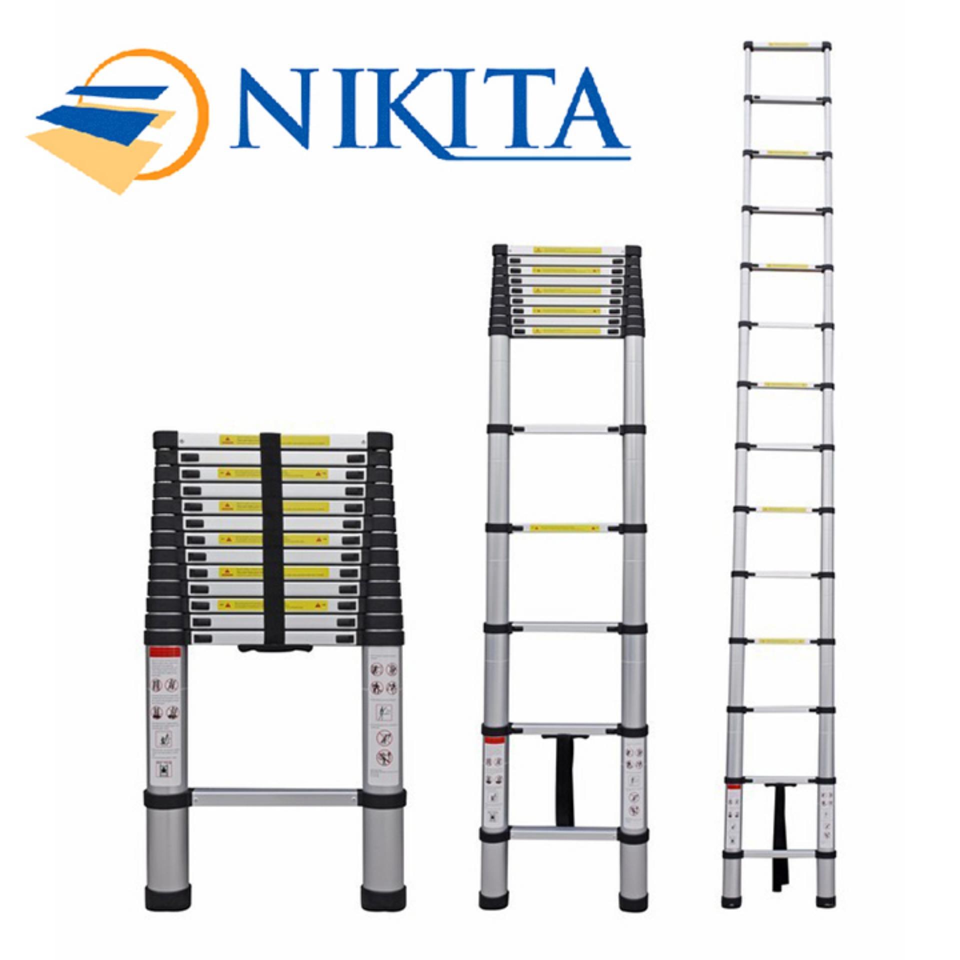 Thang nhôm rút đơn Nikita Nhật Bản KNR44 - 4,4m 15 bậc tải trọng 150kg