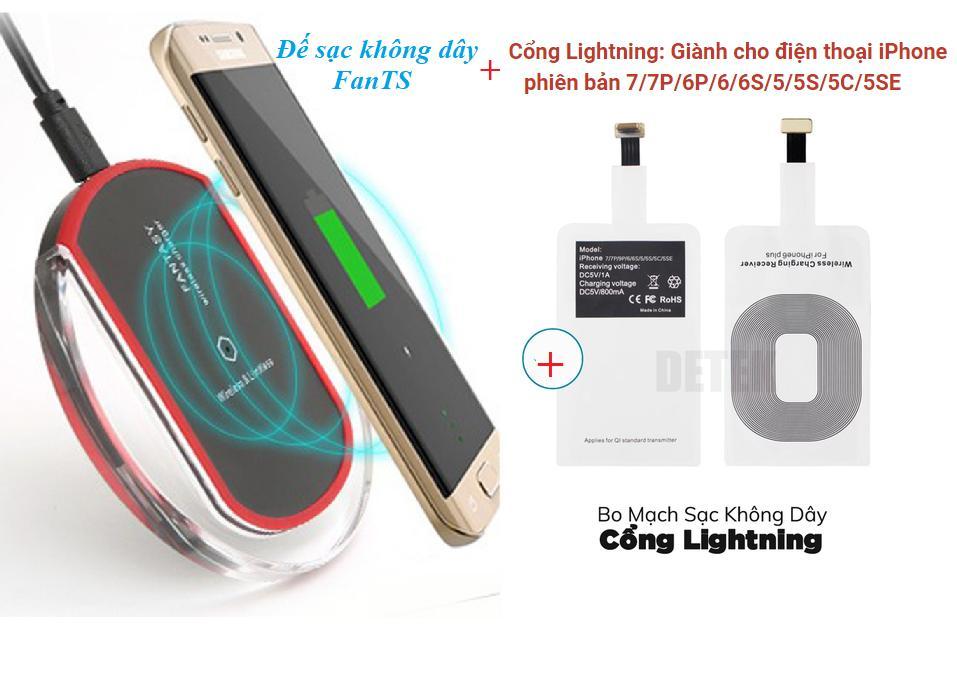 Hình ảnh ban sac android - Đế sạc không dây Qi BSH001 Fantas + Kèm Bo mạch sạc không dây Chân Lightning cho Iphone5,6,7,8,X - Uy tín BH 1 đổi 1 tại BigShop -bán sạc điện thoại