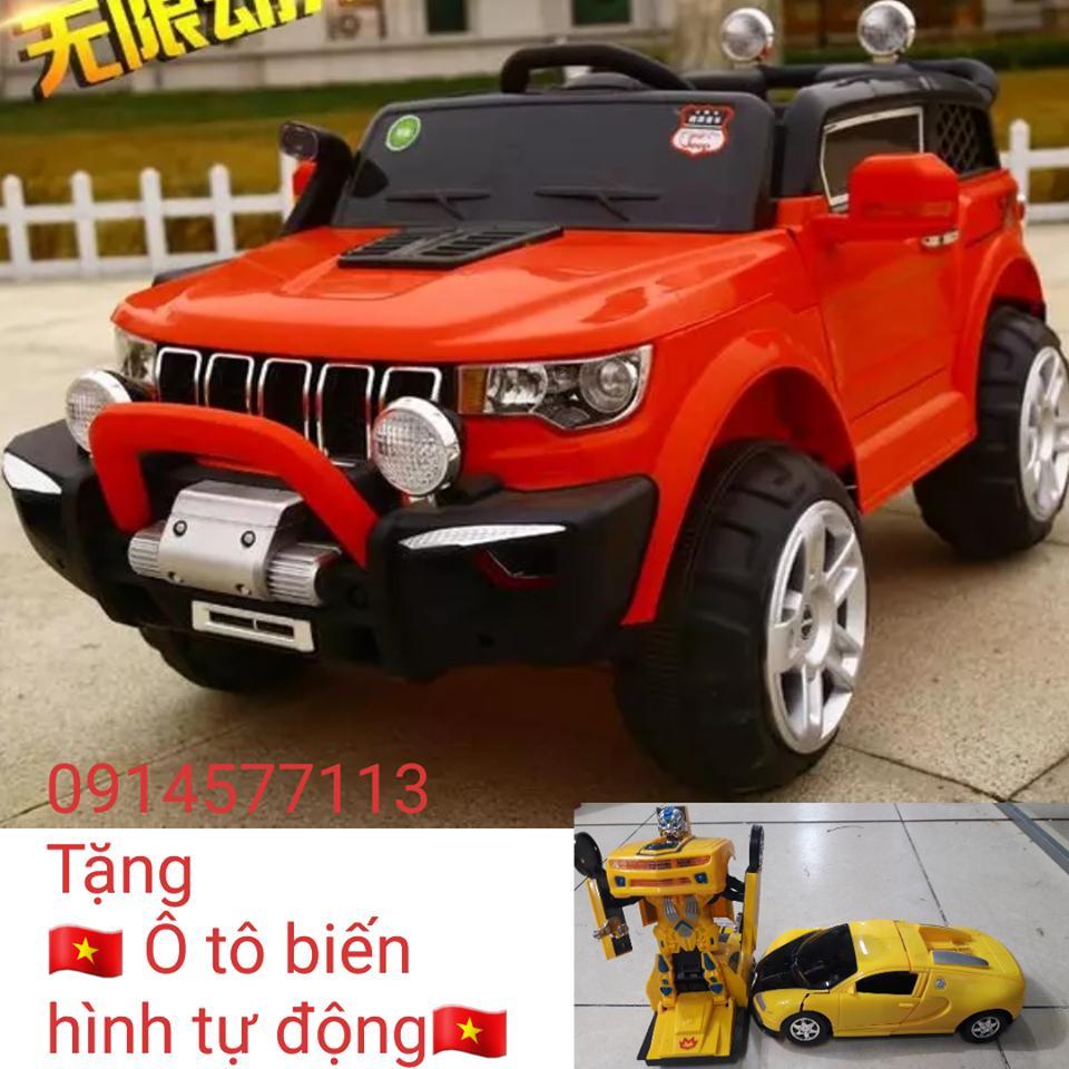 Xe ô tô điện trẻ em Jeep KP-6188 (4 động cơ)+(Tặng ô tô biến hình tự động)