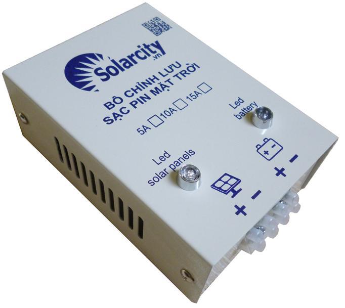 Bộ chỉnh lưu 12V/24V sạc pin năng lượng mặt trời 10A