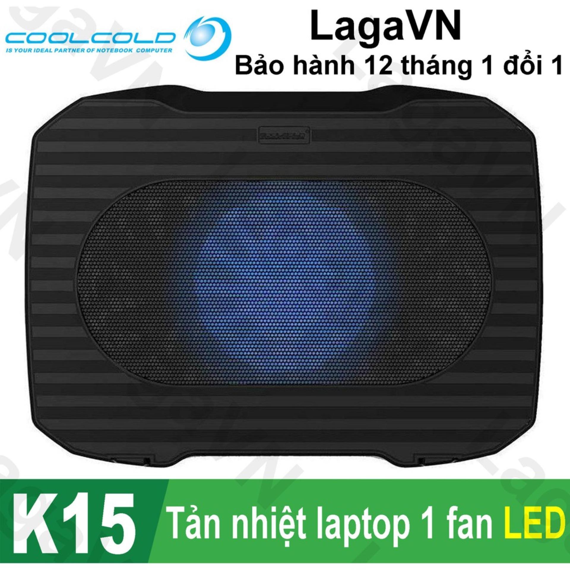 Hình ảnh Đế tản nhiệt laptop COOLCOLD K15 (Đen)