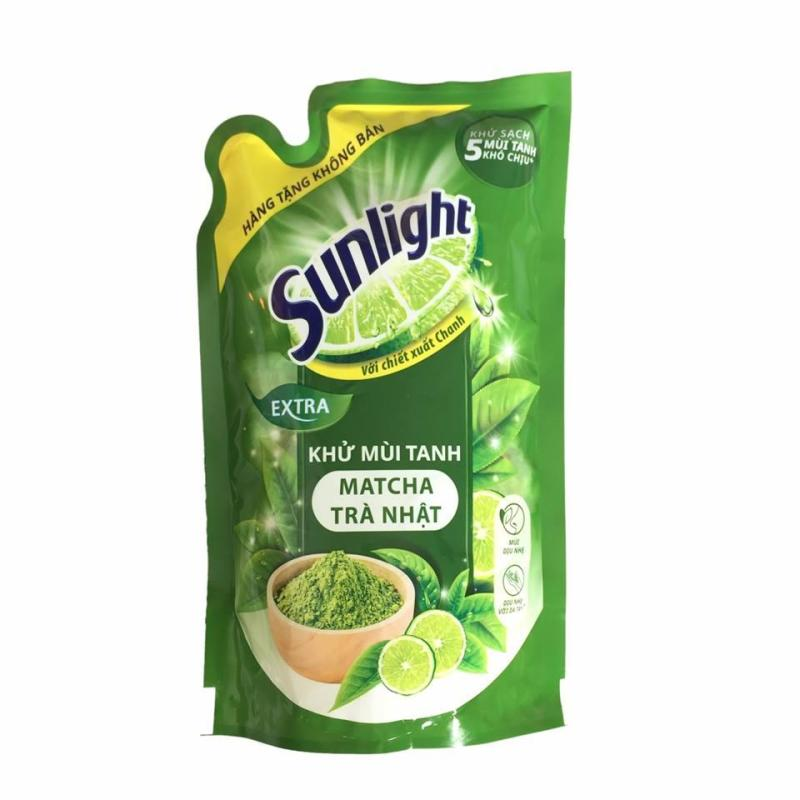 Nước rửa chén Sunlight extra trà xanh Nhật Bản 550g (Hàng tặng) nhập khẩu
