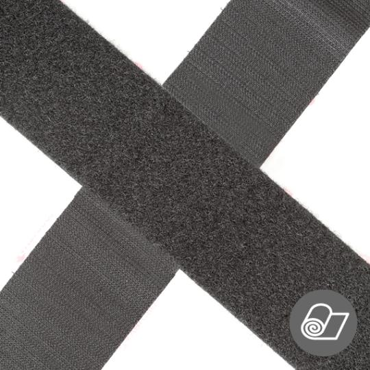 Hình ảnh Bộ 2 Vải Nylon Móc và Nhung dán xé màu Đen (1 mét x 2cm)