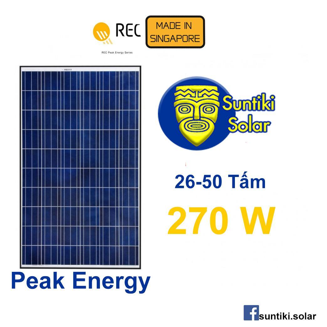 Hình ảnh Tấm pin năng lượng mặt trời REC (Solar Panel) 270W (26 - 50 tấm)