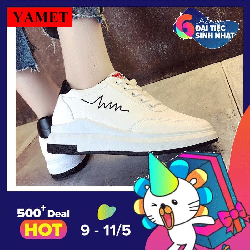 Ôn Tập Giay Sneaker Thể Thao Nữ Yamet Stt56368 Trắng Phối Đen Yamet Trong Hà Nội