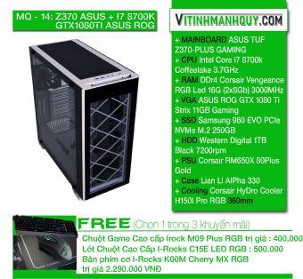 Đánh giá MQ14Z370 ASUS + I7 8700K + GTX1080TI ASUS ROG - may bo HIEND  chuyen game - CaseLian Li AlPha 330 - Intel Core i7 8700k Coffeelake 3.7GHz  - SSD ...