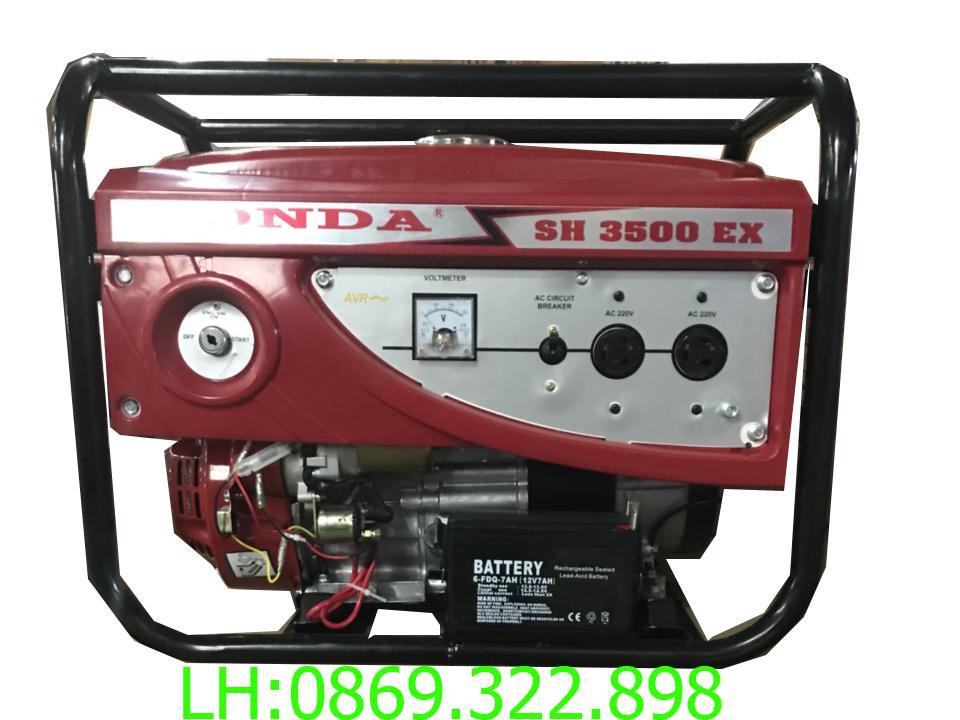 Máy phát điện honda SH 3500E AVR (new) 3kw chạy xăng đề