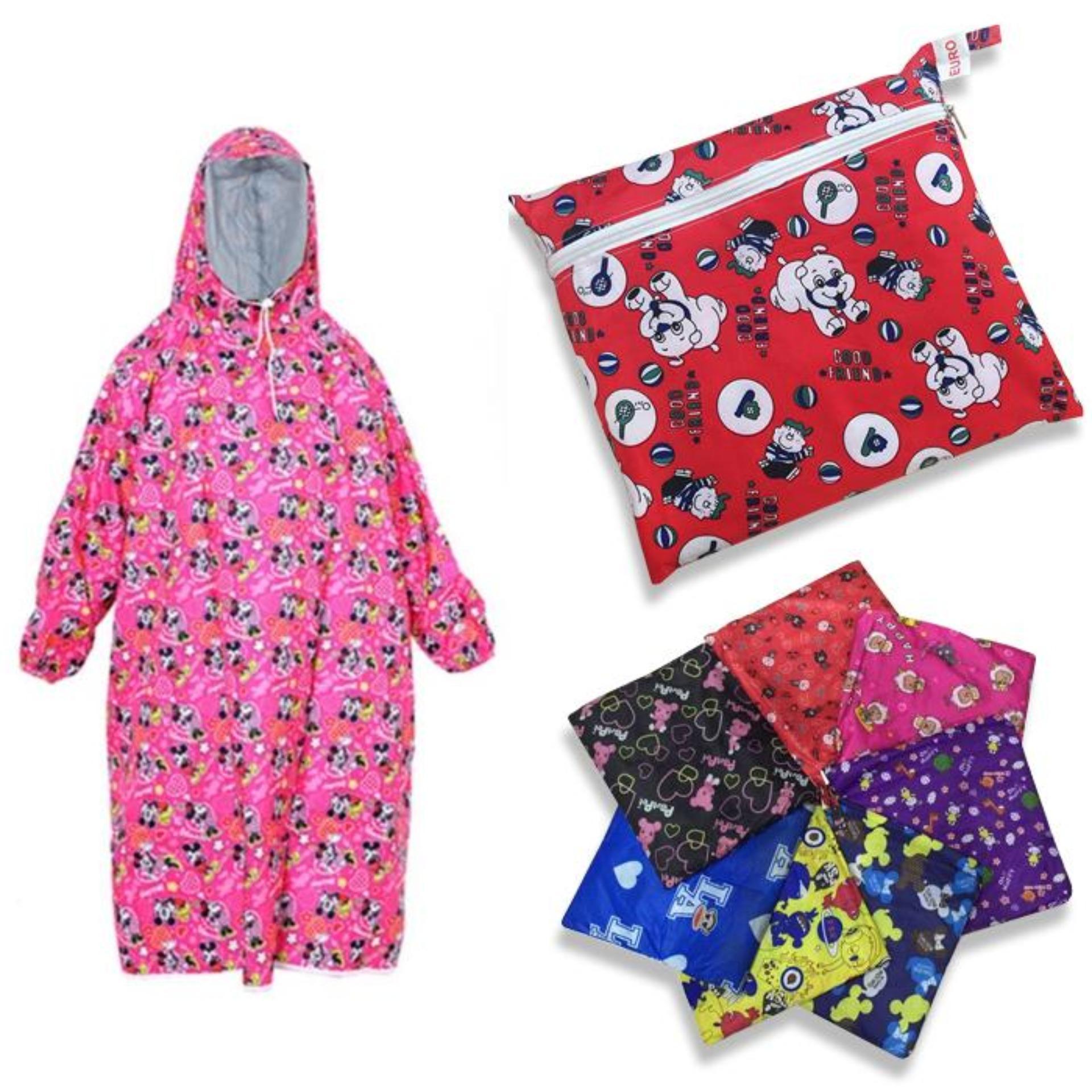 Hình ảnh Áo Mưa Trẻ Em Vải Dù Bít 2 Bên Hoa Văn Nhiều Màu, Nhiều Hình Size số 9 ( từ 6 đến 11 tuổi )