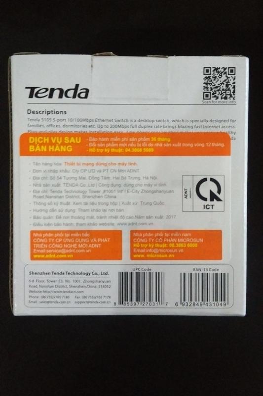 Bảng giá Bộ chia mạng Switch Tenda 5 cổng chính hãng Phong Vũ