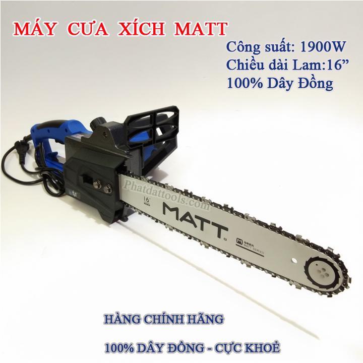 Hình ảnh Máy cưa xích dùng điện MATT405-3 cực khỏe tặng kèm 1 tô vít USA