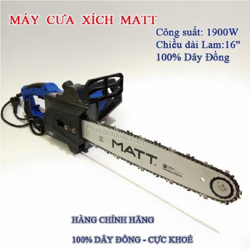 Máy cưa xích dùng điện MATT405-3 cực khỏe tặng kèm 1 tô vít USA
