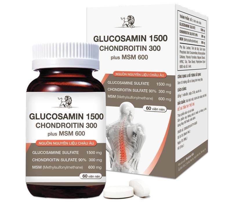 Thực phẩm hỗ trợ xương khớp - GLUCOSAMIN 1500 – CHONDROITIN PLUS MSM cao cấp