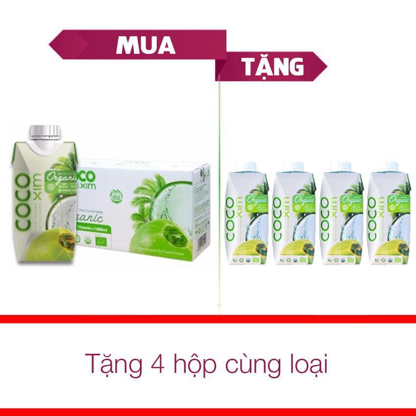 Mã Khuyến Mại Thung 12 Hộp Nước Dừa Xiem Organic Cocoxim 330Ml Tặng 4 Hộp Cung Loại Rẻ