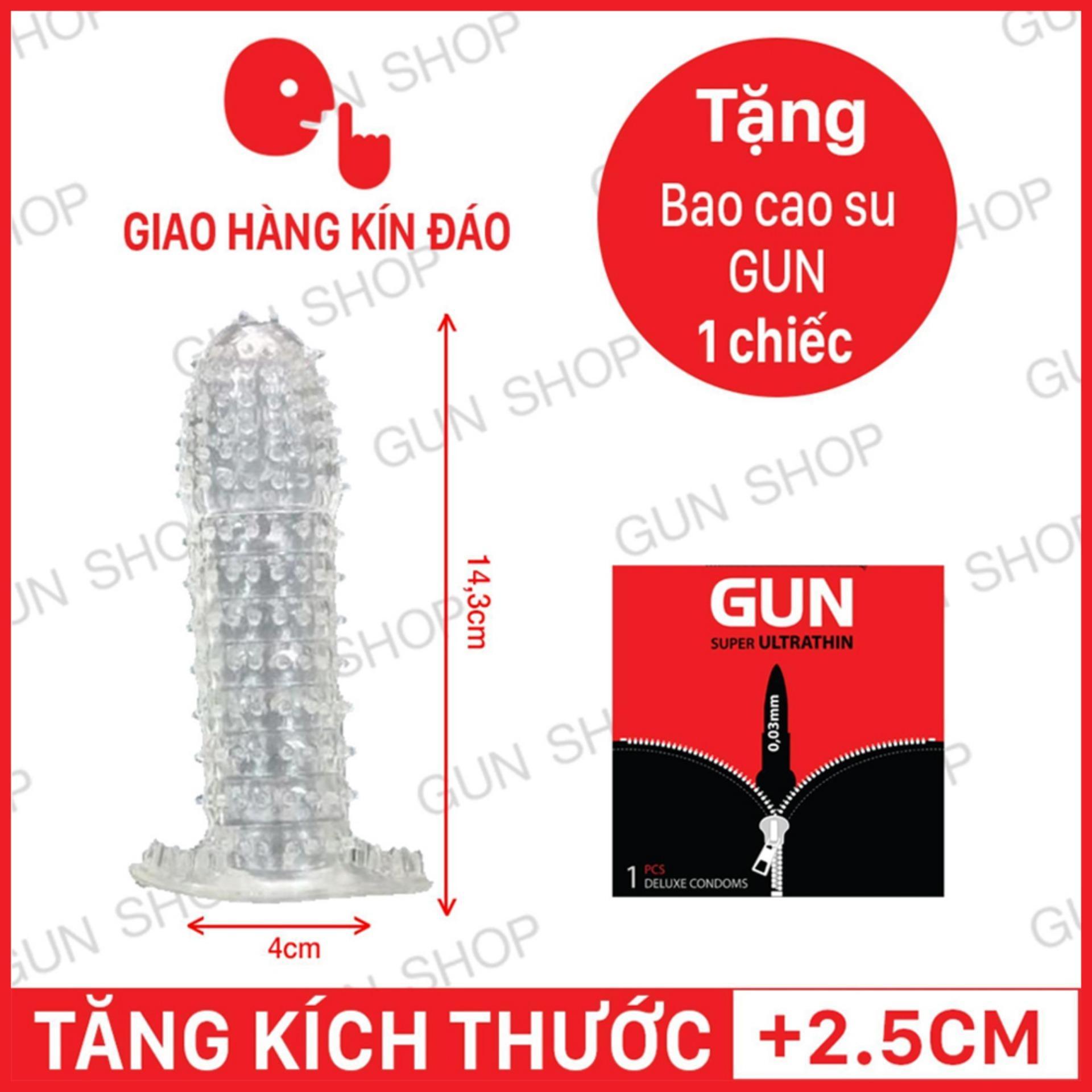 Hình ảnh Bao Cao Su Đôn Dên Kiểu (Thường) + Tặng 1 bao cao su [ Gunshop-BCS04 - BZ ]