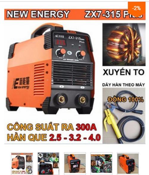 Máy hàn điện tử Energy zx7 315A nhập khẩu chất lượng