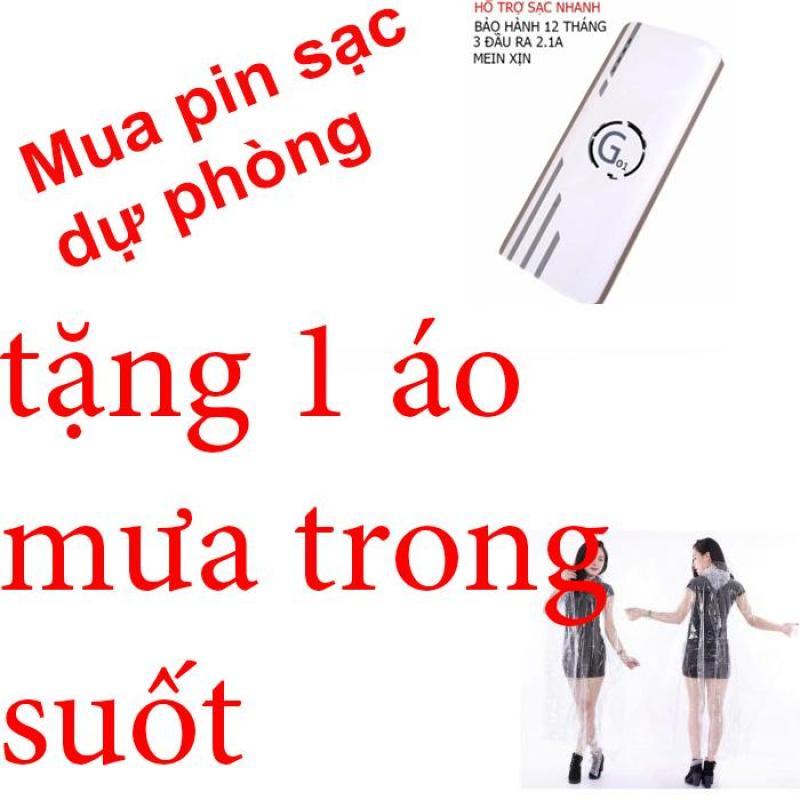 Bảng giá Pin sạc dự phòng G01 Litinum 20000MAH (Trắng) -hổ trợ sạc nhanh + tặng áo mưa trong suốt Phong Vũ