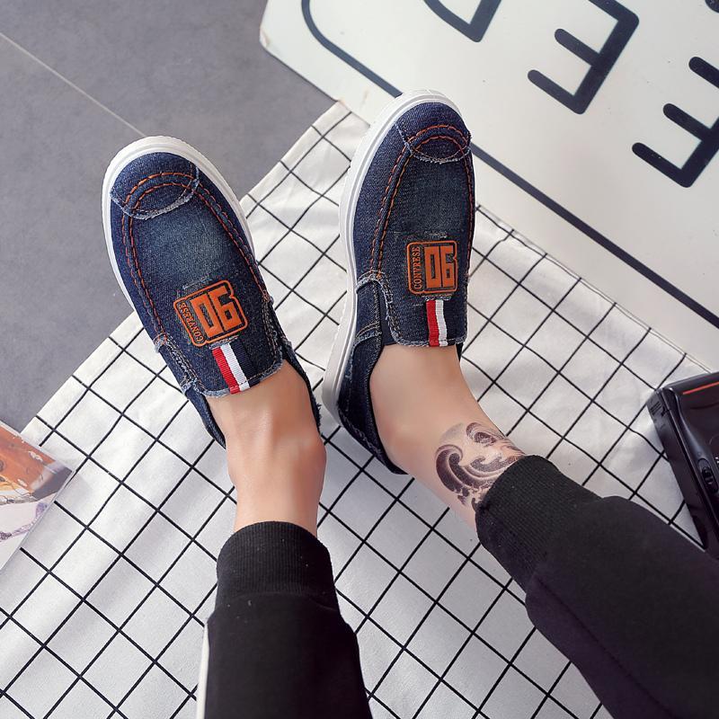 ... Toursh Sepatu Pria Berjalan Ventilasi Kasual Pria Kanvas Slip Sepatu  Mengemudi Pantofel Flat Shoes free ... 843f4c76f4