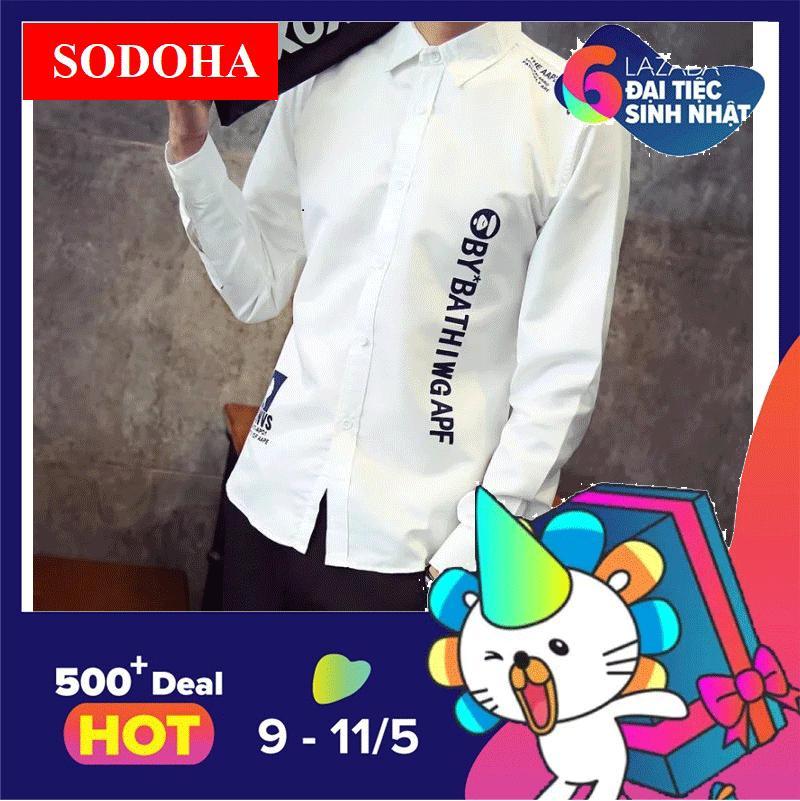 Mua Ao Sơ Mi Nam Sodoha Hot 2018 Smn201118W Mau Trắng Sodoha Trực Tuyến