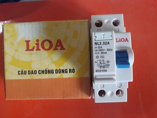 Aptomat chống giật Lioa 32A dòng rò 30 mA (cầu dao chống dòng rò)