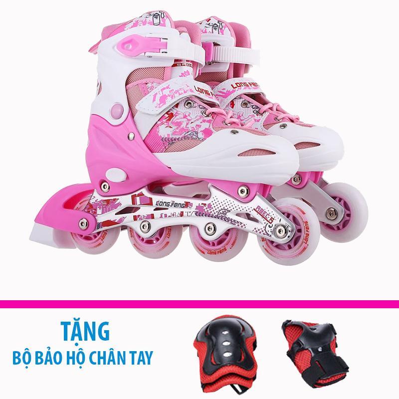 Giày trượt patin trẻ em Longfeng 906  + Tặng bộ bảo hộ