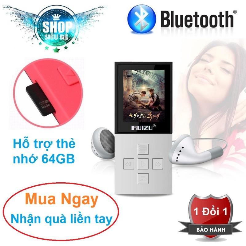 Máy nghe nhạc mp3 Ruizu X18 bộ nhớ trong 8G hỗ trợ thẻ nhớ lên đến 64G kết nối Bluetooth cao cấp