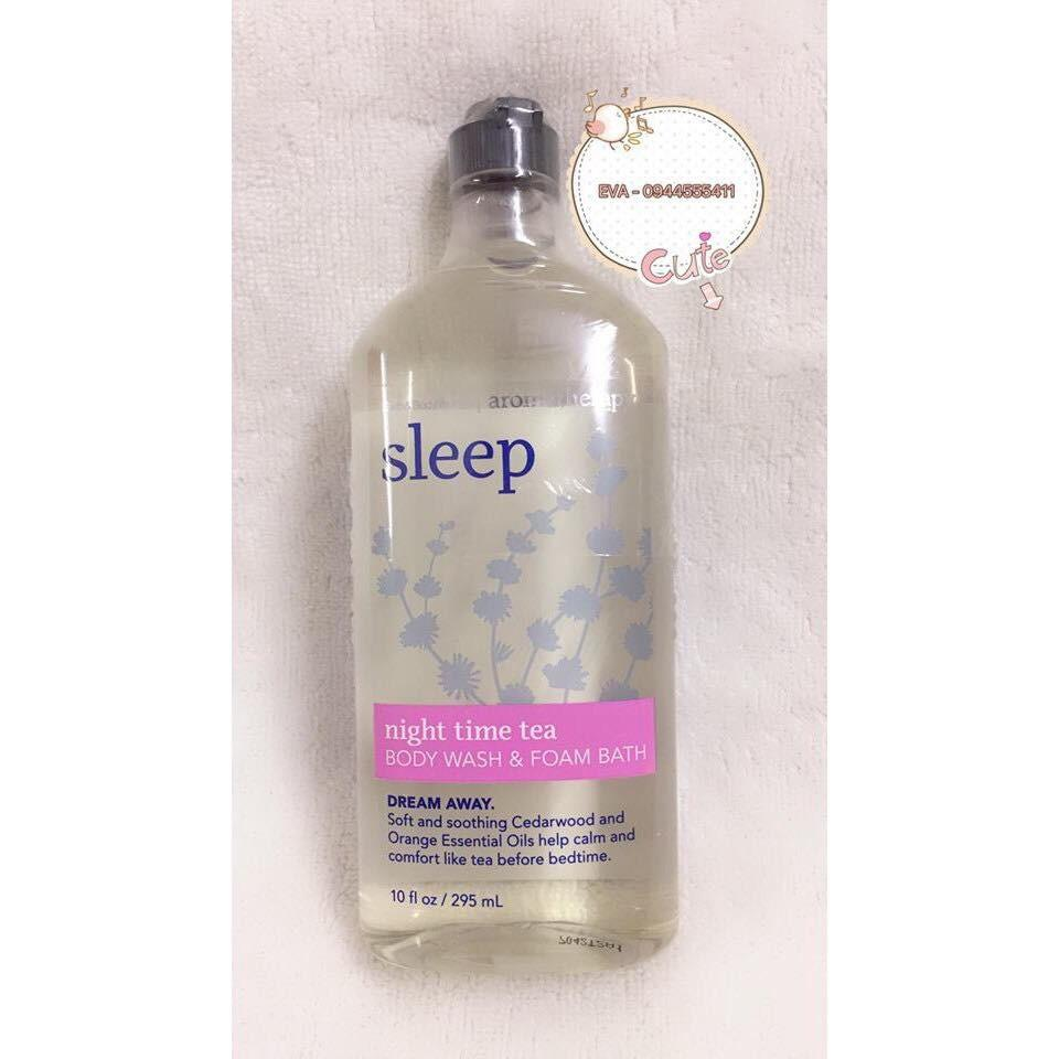 Ôn Tập Sữa Tắm Bath Body Works Body Wash Foam Bath Night Time Tea Aromatherapy 295Ml