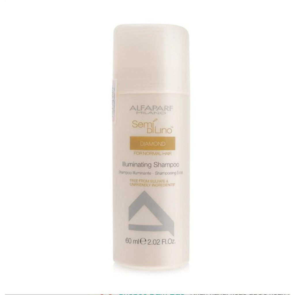 Hình ảnh Dầu gội chăm sóc tóc bóng mượt Alfaparf Milano Semi Di Lino Diamond Illuminating Shampoo 60ml