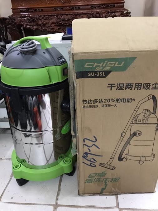 Máy hút bụi công nghiệp -gia đình Chisu SU 35 lít-Hàng trung ương Trung Quốc