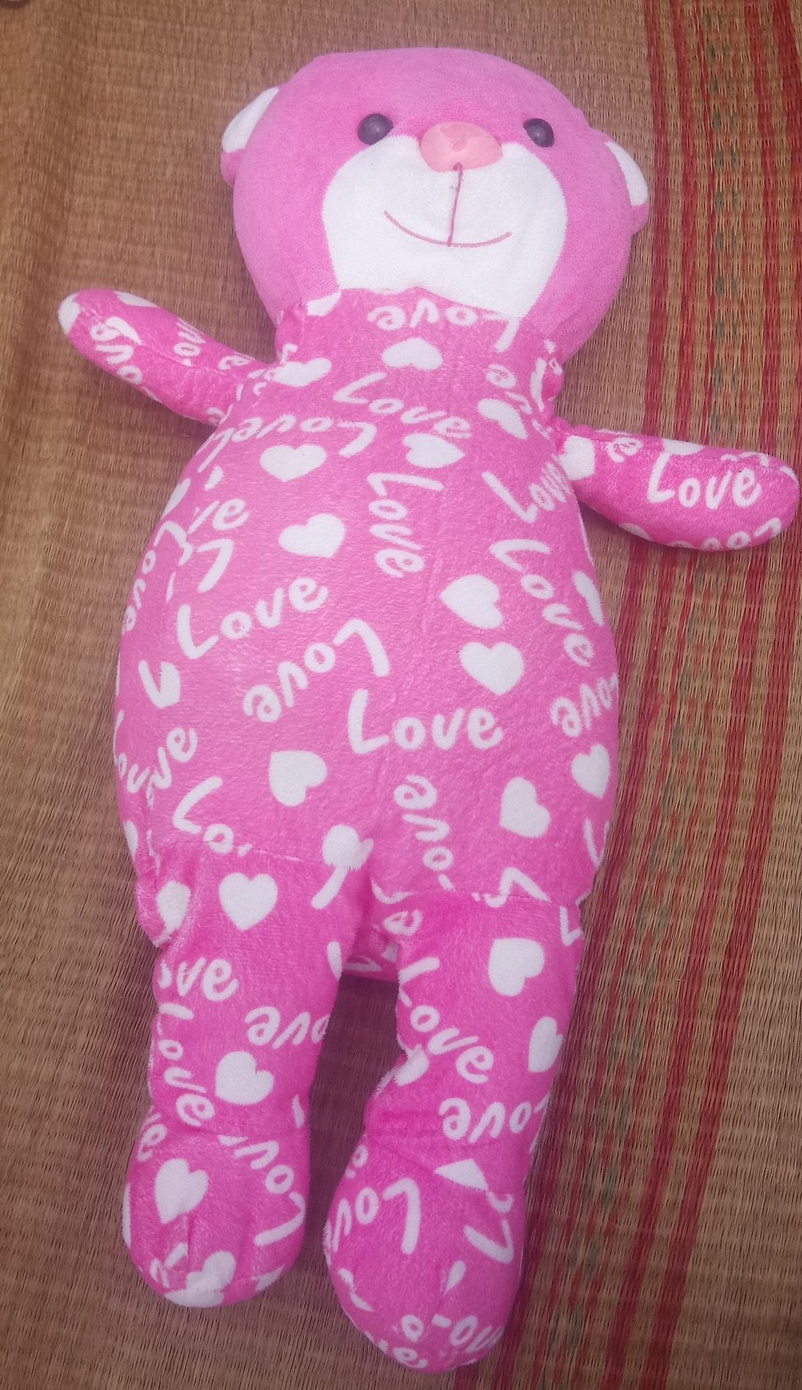 Hình ảnh Gấu bông 2hand gấu ôm hồng