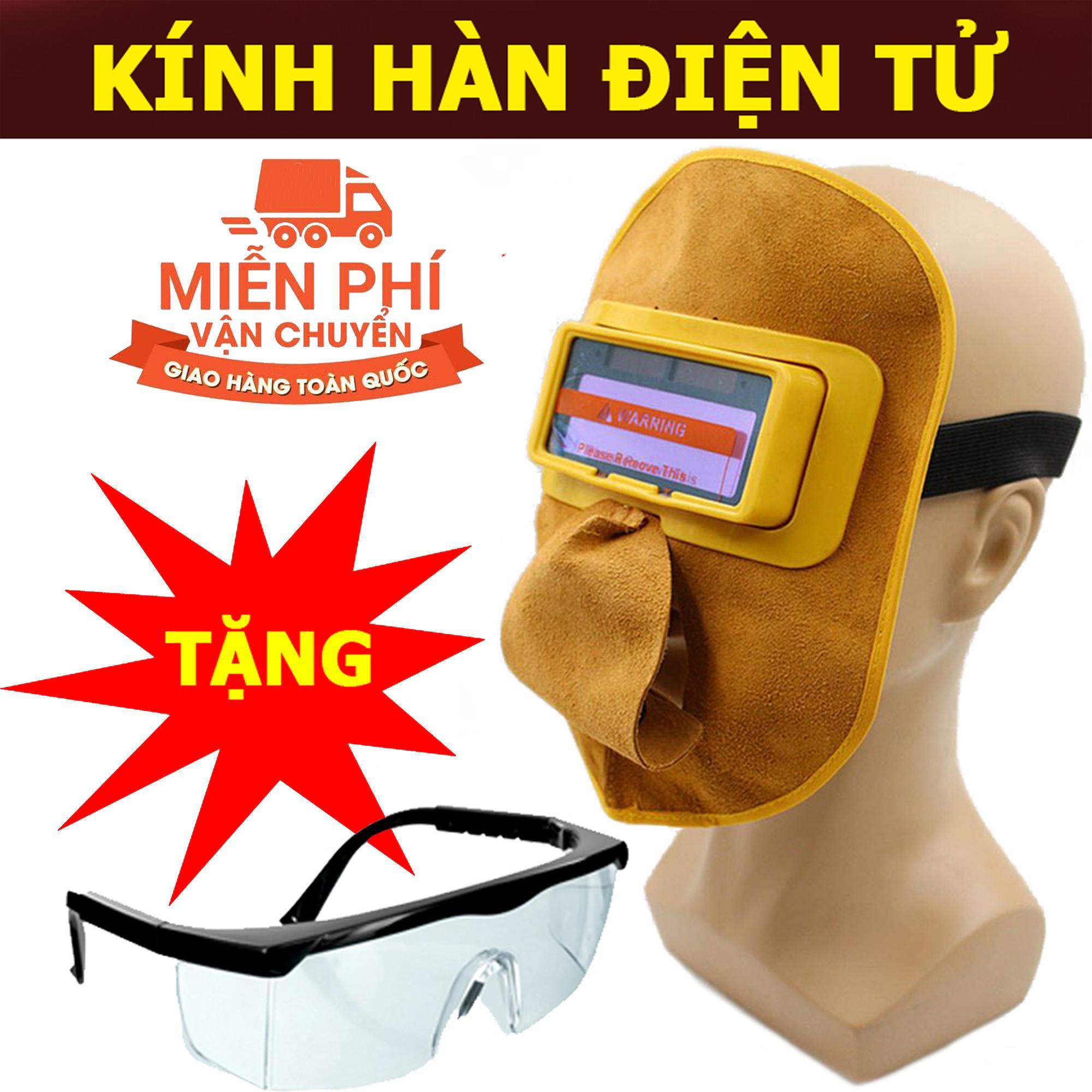 Hình ảnh Kính hàn điện tử tự động cảm biến ánh sáng KH03 + Tặng kính bảo hộ và dây đeo