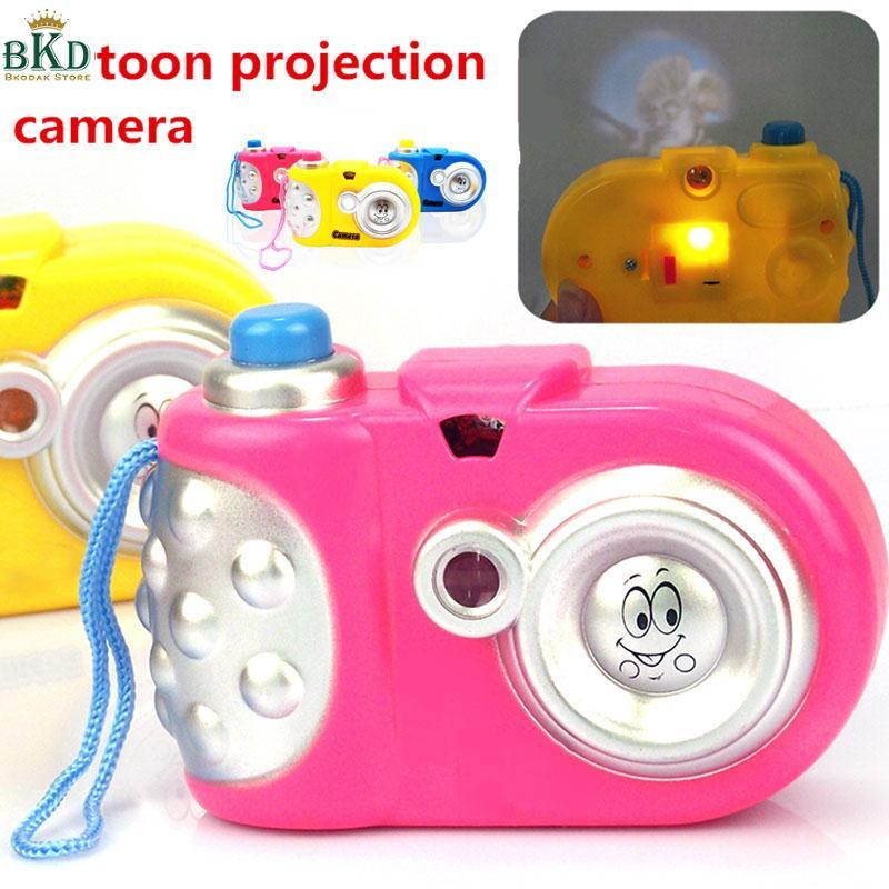 Hình ảnh Cartoon Light Projection Camera Learning Educational Toy Gifts Children Kids Fun
