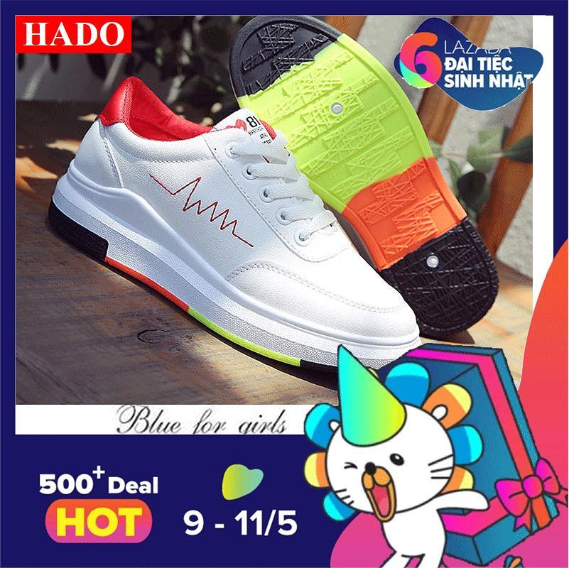 Chiết Khấu Giay Sneaker Thể Thao Nữ Doha Shop Sn 36Hq89R Trắng Phối Đỏ Oem Trong Hà Nội