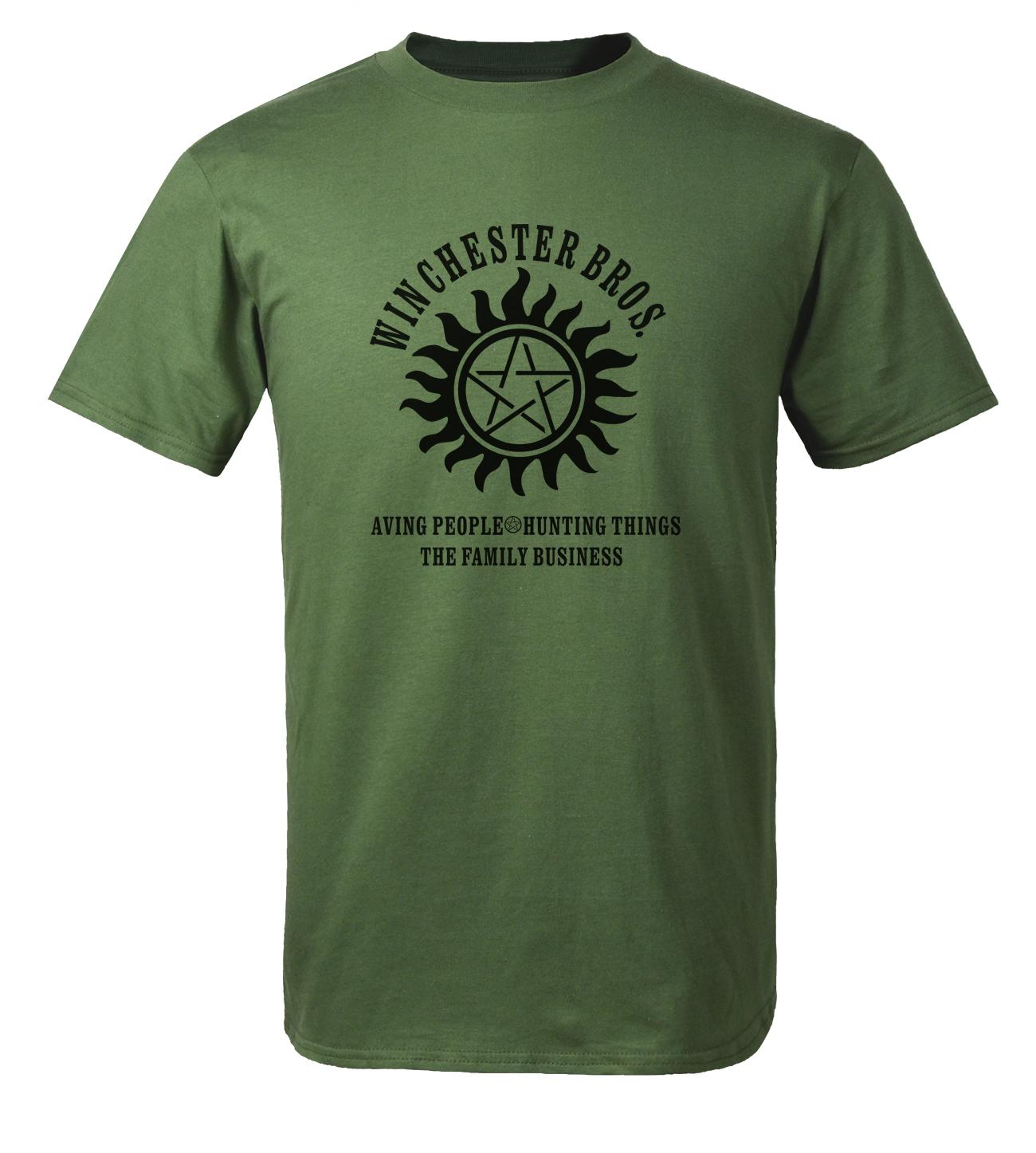Fashion T Shirt Winchester Gaib Bros Menyelamatkan Orang Yang 2018 Baru Musim Panas Pria 100% Baju Lengan Pendek Katun Kaos Hipster Pria-Intl