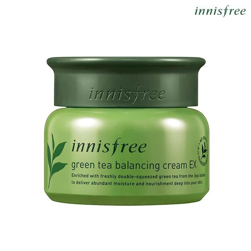 Kem dưỡng ẩm từ trà xanh đảo Jeju Innisfree Green Tea Balancing Cream EX 50ml (NEW) cao cấp